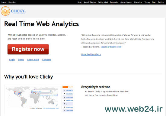 clicky جايگزين آناليتيكز گوگل