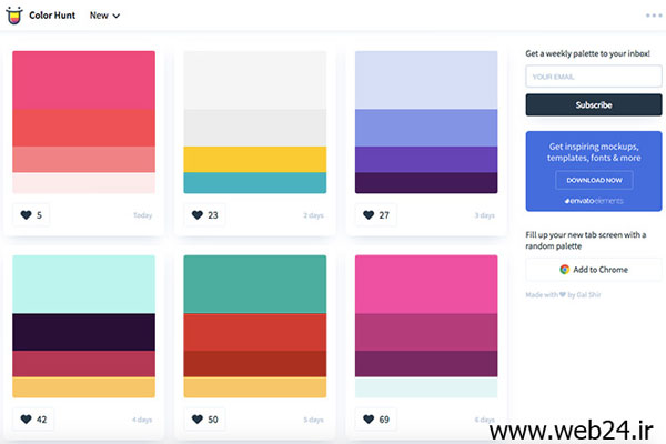 ابزار colorhunt.co