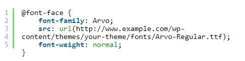 کد2 - تعریف فونت
