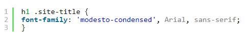 کد 4 - افزودن فونت به سایت وردپرس