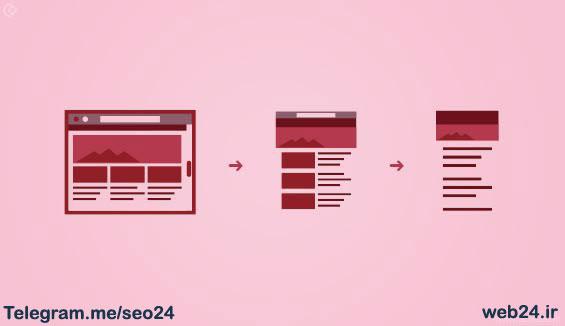 طراحی ریسپانیو چیدمان سایت