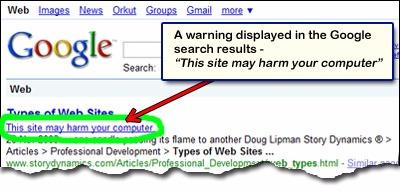 اخطار هک شدن سایت در گوگل